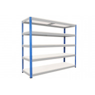 Rapid 1 Heavy Duty Shelving With 5 Melamine Shelves 2134wx2440h (Blue/Grey)