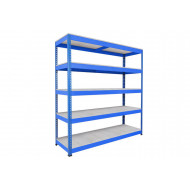 Rapid 1 Heavy Duty Shelving With 5 Galvanized Shelves 2440wx2440h (Blue)