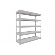 Rapid 1 Heavy Duty Shelving With 5 Galvanized Shelves 2440wx2440h (Grey)