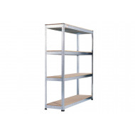Rapid 1 Heavy Duty Galvanized Shelving With 4 Chipboard Shelves 1830wx1980h