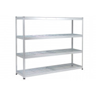 Rapid 1 Heavy Duty Galvanized Shelving With 4 Wire Mesh Shelves 1830wx1980h