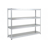 Rapid 1 heavy duty galvanized shelving with 4 galvanized shelves 2440wx1980h