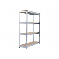 Rapid 1 Heavy Duty Galvanized Shelving With 4 Chipboard Shelves 1830wx2440h