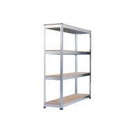 Rapid 1 Heavy Duty Galvanized Shelving With 4 Chipboard Shelves 2440wx2440h
