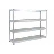 Rapid 1 Heavy Duty Galvanized Shelving With 4 Galvanized Shelves 2440Wx2440H