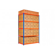 Rapid 1 Double Sided Archive Storage Unit With 90 Boxes