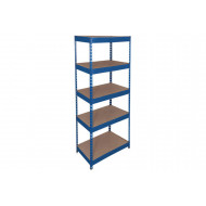 Rapid 1 Standard Shelving With 5 Chipboard Shelves 915wx1980h (Blue)