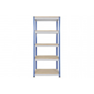 Rapid 1 Standard Shelving With 5 Chipboard Shelves 915Wx1980H (Blue/Grey)