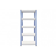 Rapid 1 Standard Shelving With 5 Melamine Shelves 915wx1980h (Blue/Grey)