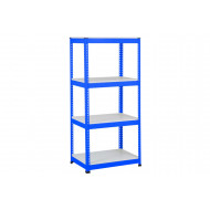 Rapid 1 Standard Shelving With 4 Melamine Shelves 915wx1980h (Blue)