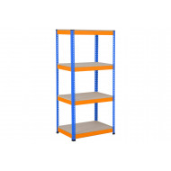 Rapid 1 Standard Shelving With 4 Chipboard Shelves 915wx1980h (Blue/Orange)