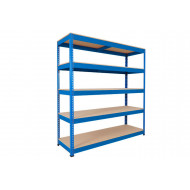 Rapid 1 Standard Shelving With 5 Chipboard Shelves 1220wx1980h (Blue)