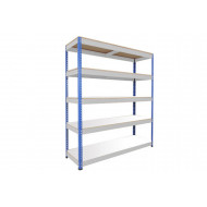 Rapid 1 Standard Shelving With 5 Melamine Shelves 1220wx1980h (Blue/Grey)
