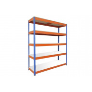 Rapid 1 Standard Shelving With 5 Melamine Shelves 1220wx1980h (Blue/Orange)
