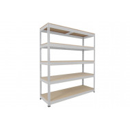 Rapid 1 Standard Shelving With 5 Chipboard Shelves 1220wx1980h (Grey)