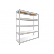 Rapid 1 Standard Shelving With 5 Melamine Shelves 1220wx1980h (Grey)