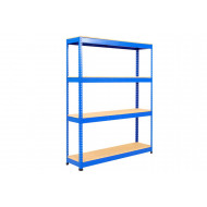 Rapid 1 Standard Shelving With 4 Chipboard Shelves 1220wx1980h (Blue)