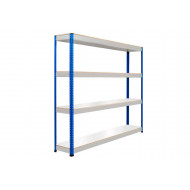Rapid 1 Standard Shelving With 4 Melamine Shelves 1220wx1980h (Blue/Grey)