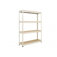 Rapid 1 Standard Shelving With 4 Chipboard Shelves 1220wx1980h (Grey)