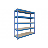 Rapid 1 Standard Shelving With 5 Chipboard Shelves 1525wx1980h (Blue)