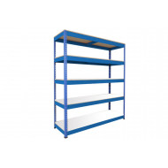 Rapid 1 Standard Shelving With 5 Melamine Shelves 1525wx1980h (Blue)