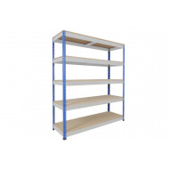Rapid 1 Standard Shelving With 5 Chipboard Shelves 1525wx1980h (Blue/Grey)