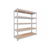 Rapid 1 Standard Shelving With 5 Chipboard Shelves 1525wx1980h (Grey)
