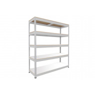 Rapid 1 standard shelving with 5 melamine shelves 1525wx1980h (grey)