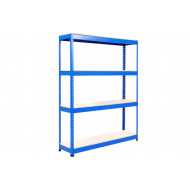 Rapid 1 Standard Shelving With 4 Melamine Shelves 1525wx1980h (Blue)
