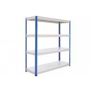 Rapid 1 standard shelving with 4 melamine shelves 1525wx1980h (blue/grey)