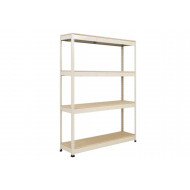 Rapid 1 Standard Shelving With 4 Chipboard Shelves 1525wx1980h (Grey)
