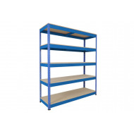 Rapid 1 Standard Shelving With 5 Chipboard Shelves 1830wx1980h (Blue)
