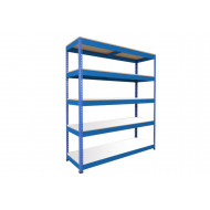 Rapid 1 Standard Shelving With 5 Melamine Shelves 1830wx1980h (Blue)
