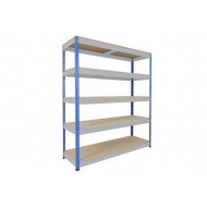 Rapid 1 Standard Shelving With 5 Chipboard Shelves 1830wx1980h (Blue/Grey)