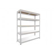 Rapid 1 Standard Shelving With 5 Melamine Shelves 1830Wx1980H (Grey)