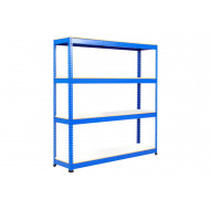 Rapid 1 Standard Shelving With 4 Melamine Shelves 1830wx1980h (Blue)