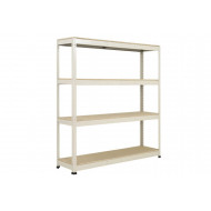 Rapid 1 Standard Shelving With 4 Chipboard Shelves 1830wx1980h (Grey)