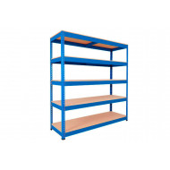 Rapid 1 Standard Shelving With 5 Chipboard Shelves 1525wx2440h (Blue)