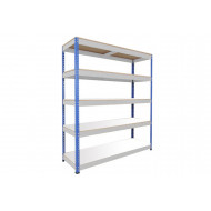Rapid 1 Standard Shelving With 5 Melamine Shelves 1525wx2440h (Blue/Grey)