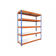 Rapid 1 Standard Shelving With 5 Melamine Shelves 1525wx2440h (Blue/Orange)
