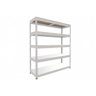 Rapid 1 standard shelving with 5 chipboard shelves 1525wx2440h (grey)
