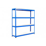 Rapid 1 Standard Shelving With 4 Melamine Shelves 1525wx2440h (Blue)