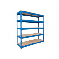 Rapid 1 Standard Shelving With 5 Chipboard Shelves 1830wx2440h (Blue)