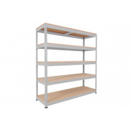 Rapid 1 standard shelving with 5 chipboard shelves 1830wx2440h (grey)