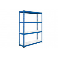 Rapid 1 Standard Shelving With 4 Melamine Shelves 1830wx2440h (Blue)