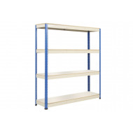 Rapid 1 standard shelving with 4 melamine shelves 1830wx2440h (blue/grey)