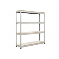 Rapid 1 Standard Shelving With 4 Melamine Shelves 1830wx2440h (Grey)