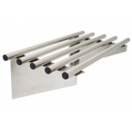 Piped Stainless Steel Wall Shelves