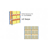 Pallet Racking Kit For 12 Pallets 5717wx3000h