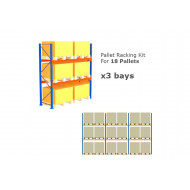 Pallet Racking Kit For 18 Pallets 8503wx3000h